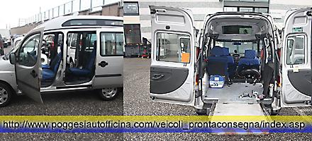 Vendo doblo tetto alto trasporto disabili usato con pedana for Disegni di posto auto coperto in piedi